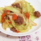 合挽き肉で簡単!回鍋肉風♪肉野菜炒め