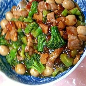 豚バラブロック(サムギョプサル)de中華炒め
