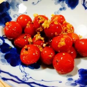 【ガサツ料理】簡単一品!ミニトマトのガーリック炒め