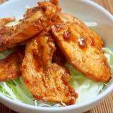 鶏ムネ肉と甜麺醤で中華風ピリ辛味噌丼