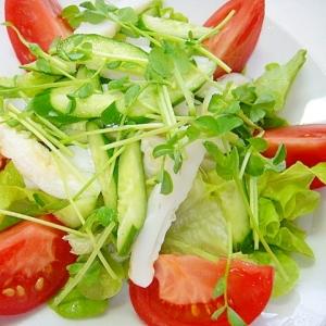 【お手伝いレシピ】笹かまとレタスのサラダ