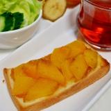 梅ジャムと柿のトースト