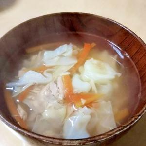 キャベツとツナのコンソメスープ