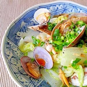 アサリと白菜のピリ辛蒸し