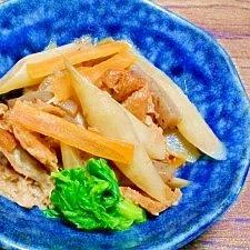 ウドと焼き麩☆煮物