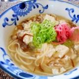 もずくと豆腐の沖縄そば