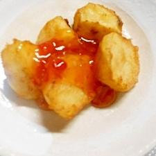天ぷら種が余ったら★じゃが天のスイートチリ