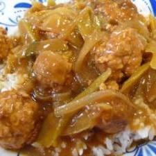 豆腐入り肉団子カレーライス