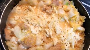 チーズタッカルビを目指したキムチ鍋?