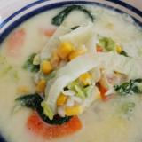 優しい味わい♪白菜のミルクスープ