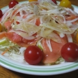 野菜たっぷりサーモンカルパッチョ