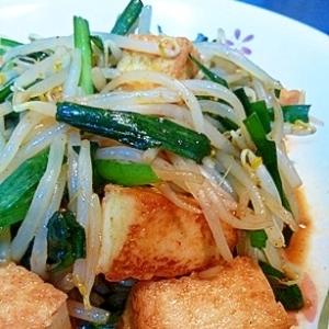 厚揚げと野菜のピリ辛炒め