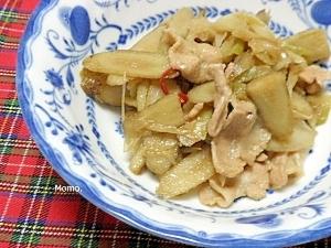 ごぼうと豚バラの煮物