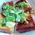 チーズと小松菜のフレンチトースト風