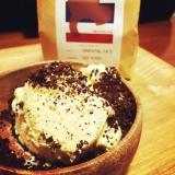 クラッシュコーヒー豆onアイスクリーム