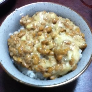 塩らっきょう納豆ご飯