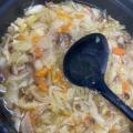 野菜たっぷり水餃子スープ