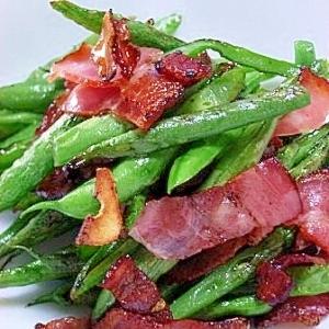 簡単メニュー インゲンと豚肉のガーリックソテー