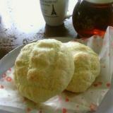 卵バターイースト不要 豆腐とHMでメロンパン