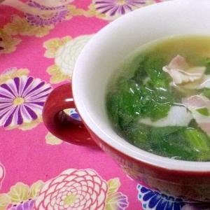 ベーコンとセロリのスープ