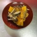 糸コンしめじかぼちゃの炒め物