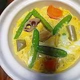 ☆根菜&絹さや卵おじや