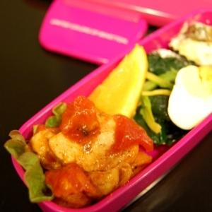 キッズ弁当☆鶏肉のトマト煮☆