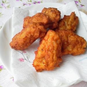 鶏挽き肉とおからで、落とし揚げ(おからナゲット)