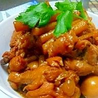 圧力鍋で◆鶏とごぼうの煮物