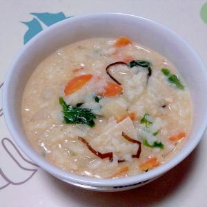 野菜たっぷり豆乳粥++