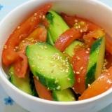 きゅうりとトマトのポン酢浅漬け