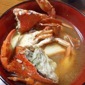 旨味がギュッっと詰まった丸蟹(平爪蟹)のお味噌汁