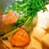 焼き鮭で★石狩鍋風★