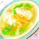 ❤人参と春キャベツと新玉葱とSエンドウの水餃子❤