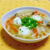 ささ身とおからの鶏団子スープ