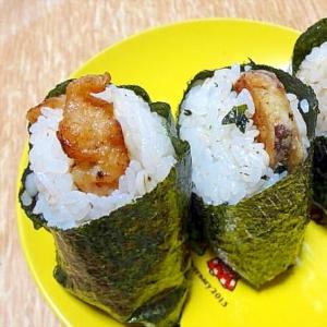 残りもの天ぷらをリメイク☆天むす弁当