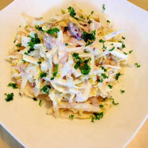 ツナ缶で☆干し白菜のコールスローサラダ
