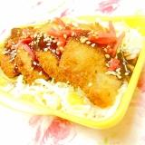 ❤コーンバターご飯のトンカツ弁当❤