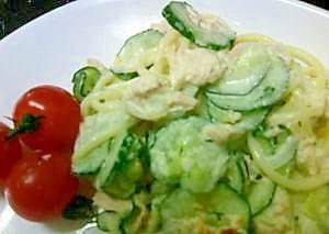 晩ごはんの副菜-レンチンでツナスパサラダ