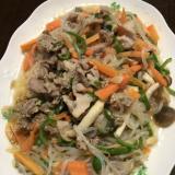 しらたきのたっぷり肉野菜炒め