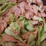 豚肉とキャベツの塩にんにく炒め(^^)