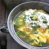 モロヘイヤで♪さっぱりたまごスープ
