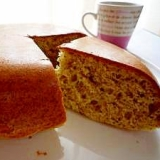 ホットケーキミックスと炊飯器で♪ほうじ茶のケーキ