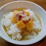 薩摩芋とツナの出汁茶漬け