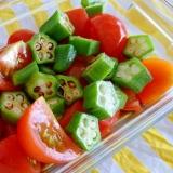 よ〜く冷やして食べたいトマトとオクラのサラダ