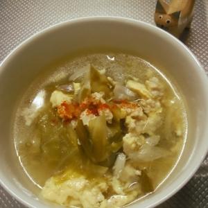 たっぷりキャベツでおなかに優しい温かスープ