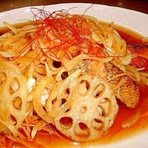 根菜たっぷり☆焼き鮭の南蛮漬け