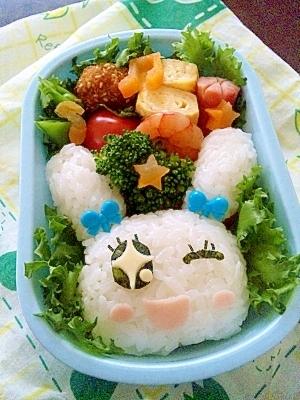 簡単キャラ弁☆たまごっち ラブリっち♡のお弁当