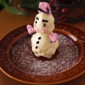 簡単HMでつくる、立体雪だるまケーキ☆クリスマス