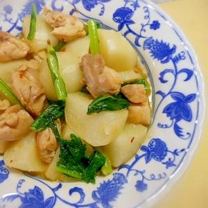 かぶと鶏もも肉のコンソメ煮